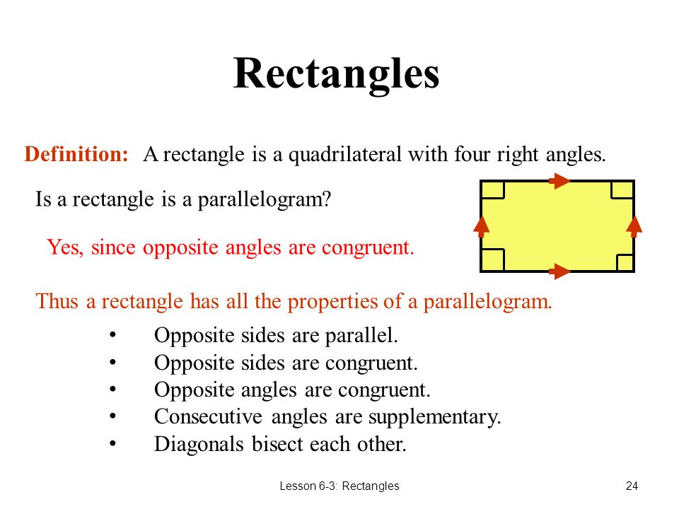 Rectangles Definition: