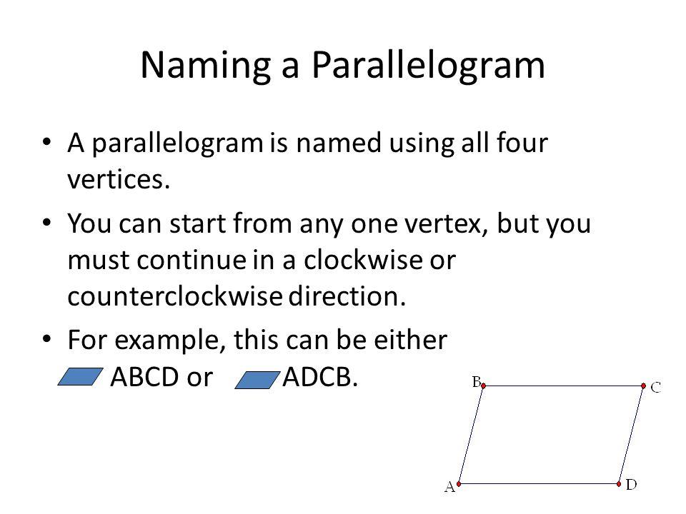 Naming a Parallelogram