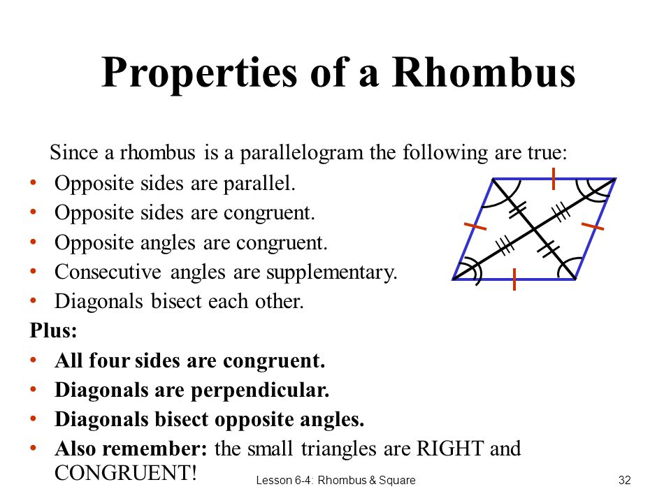 how to find the angles of a rhombus