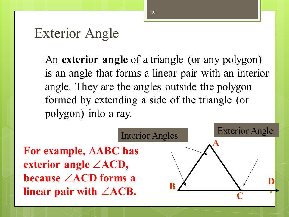 Exterior Angle