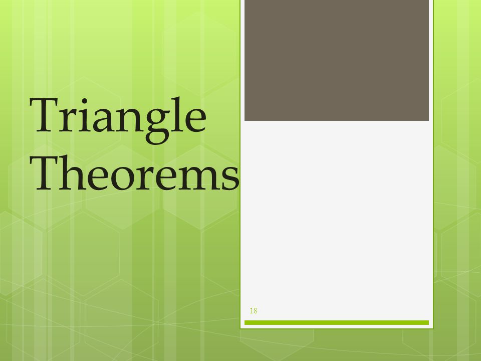 Triangle Theorems