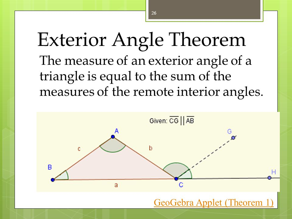 Interior And Exterior Angles Of A Triangle Definition