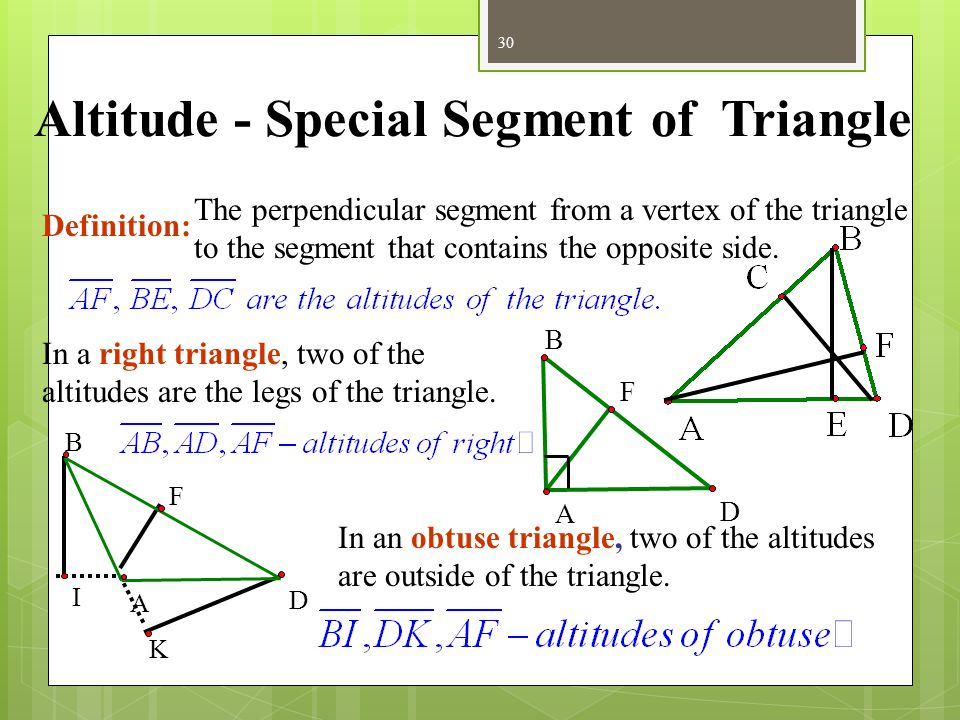 Altitude - Special Segment of Triangle