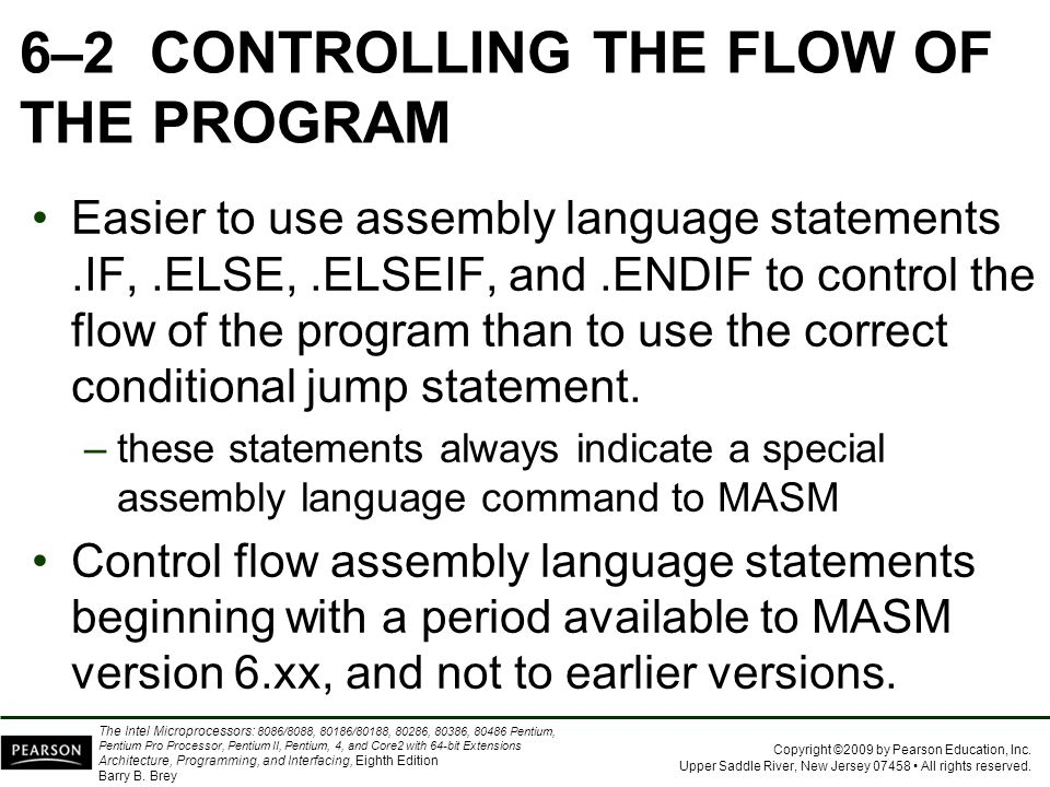 6–2 CONTROLLING THE FLOW OF THE PROGRAM