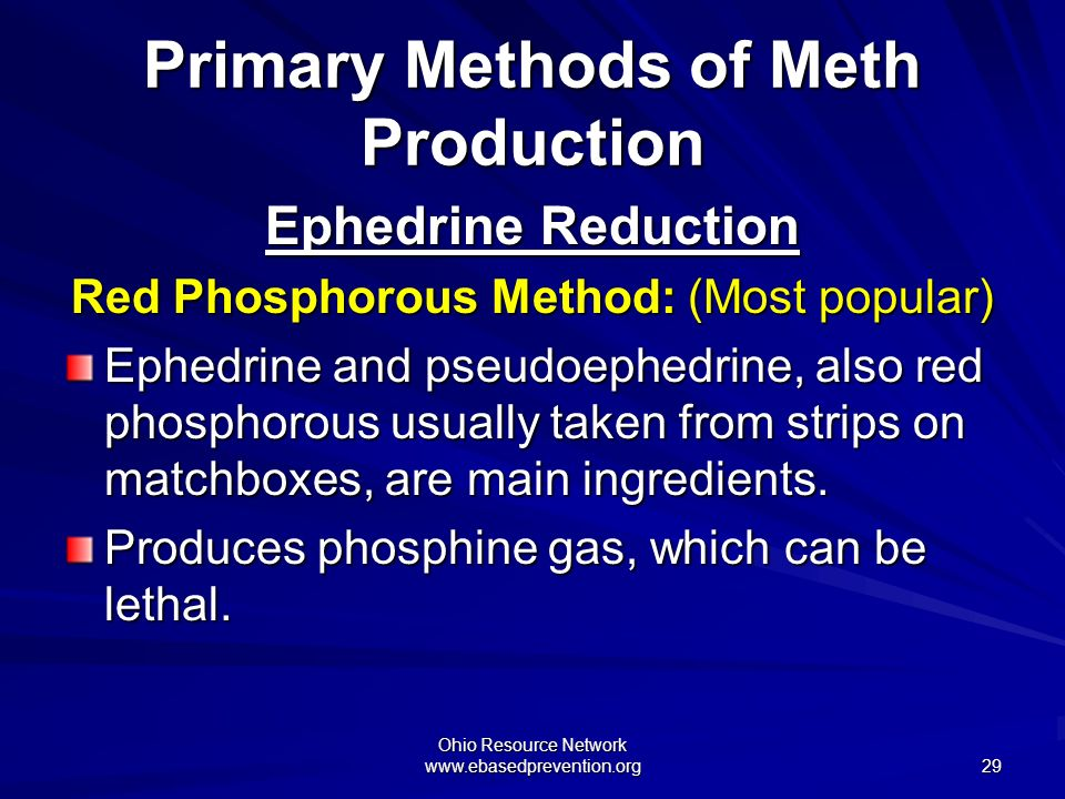 Primary Methods of Meth Production