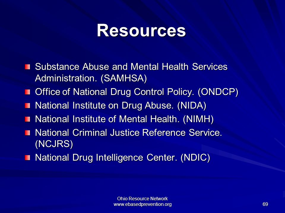 Ohio Resource Network www.ebasedprevention.org