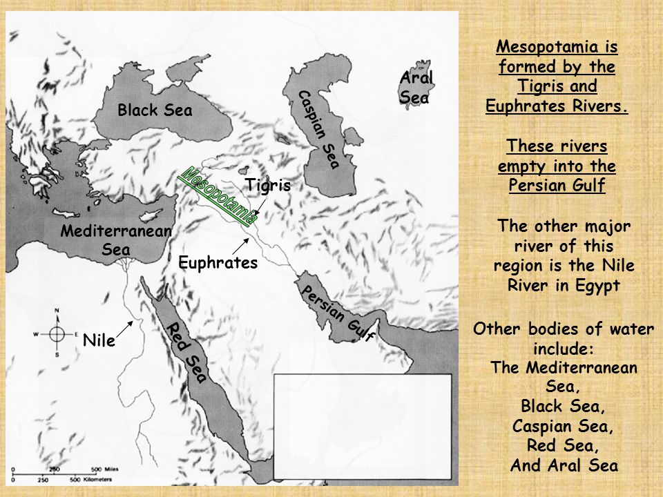 Mesopotamia Mesopotamia is formed by the Tigris and Euphrates Rivers.