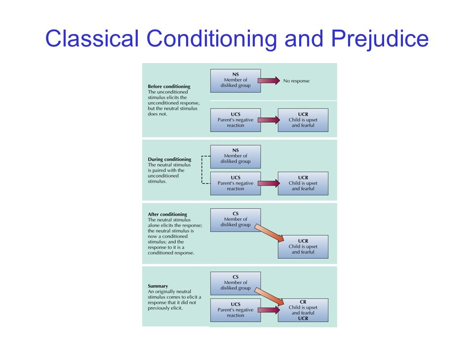 Classical Conditioning and Prejudice