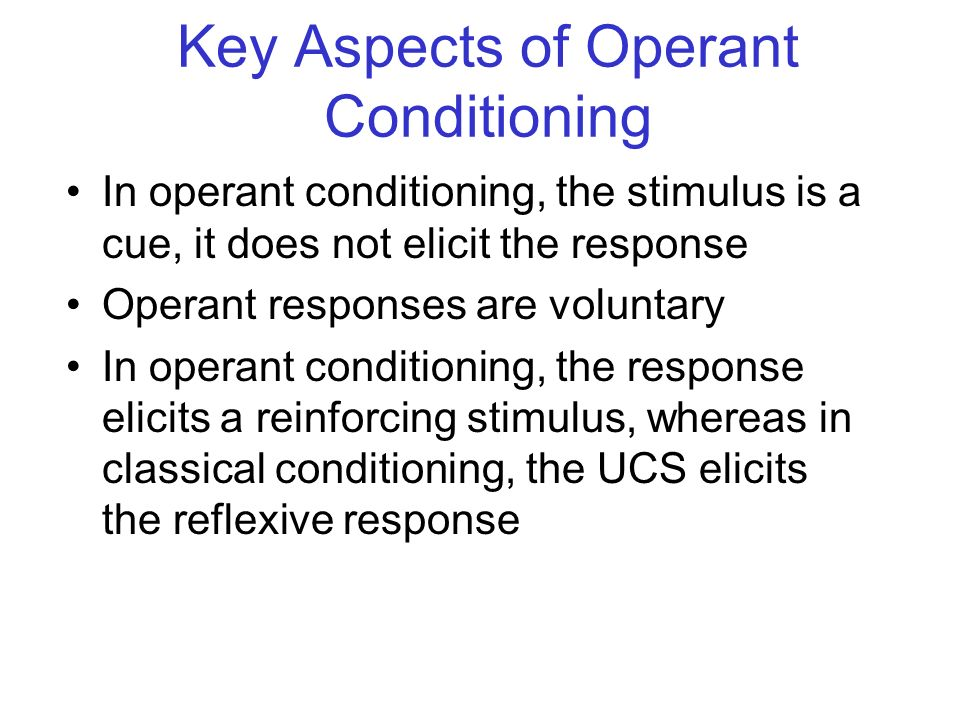 Key Aspects of Operant Conditioning