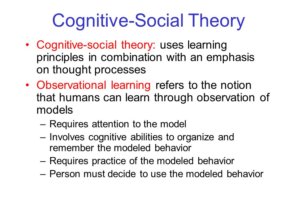 Cognitive-Social Theory