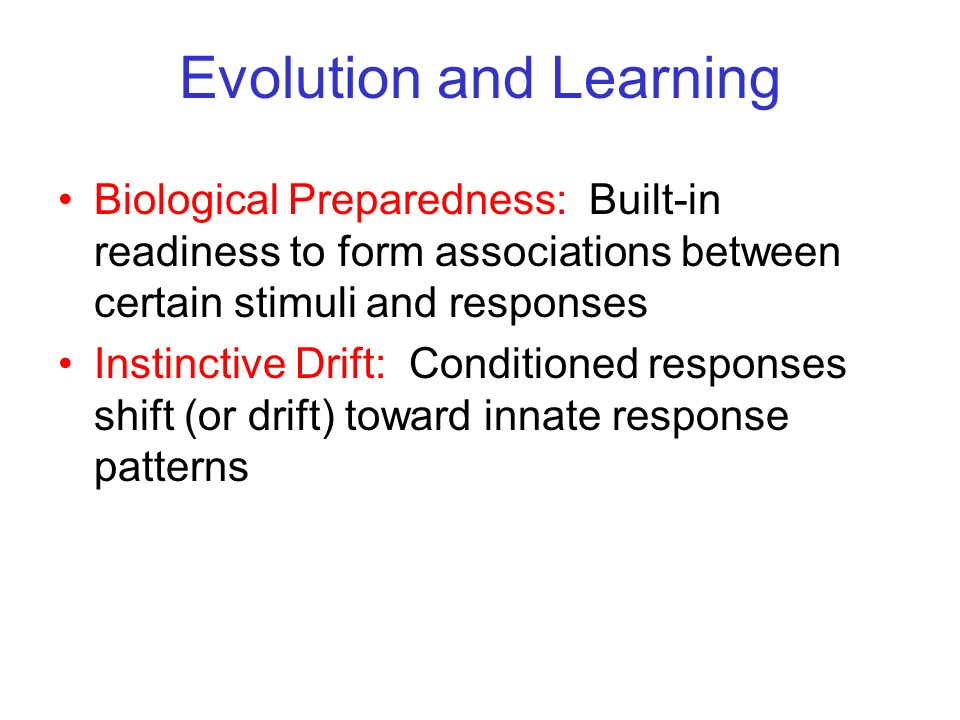 Evolution and Learning