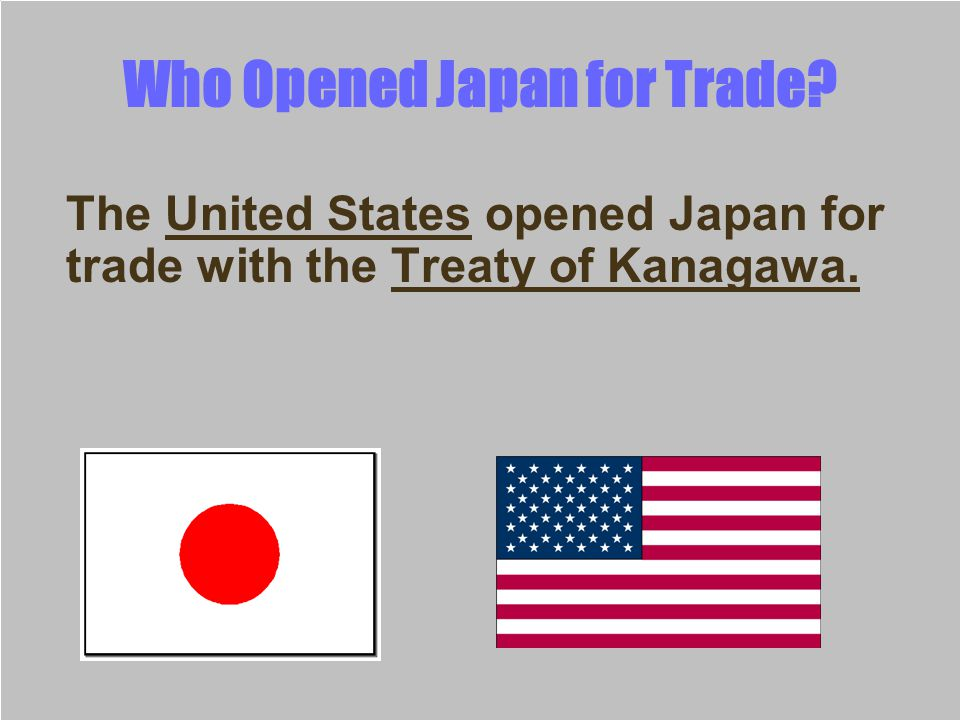 Who Opened Japan for Trade