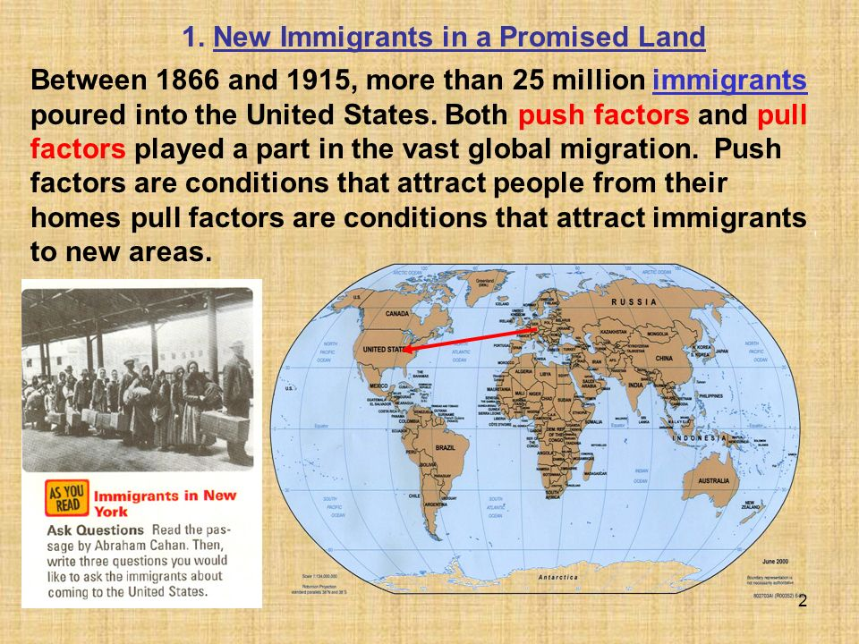 1. New Immigrants in a Promised Land