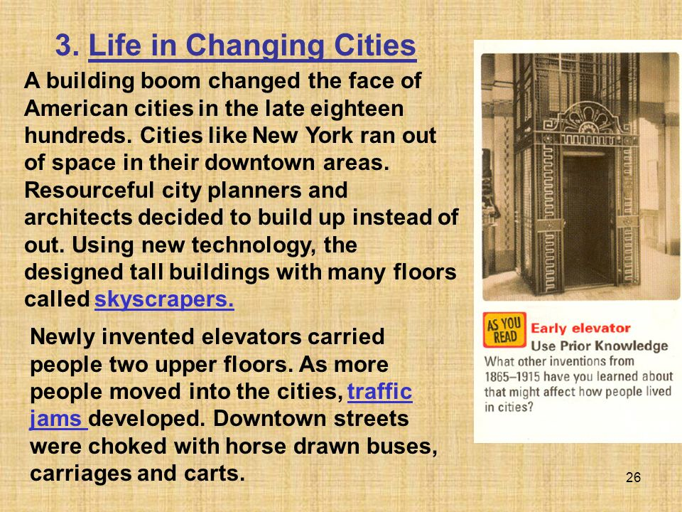 3. Life in Changing Cities