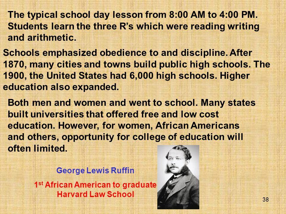 1st African American to graduate Harvard Law School