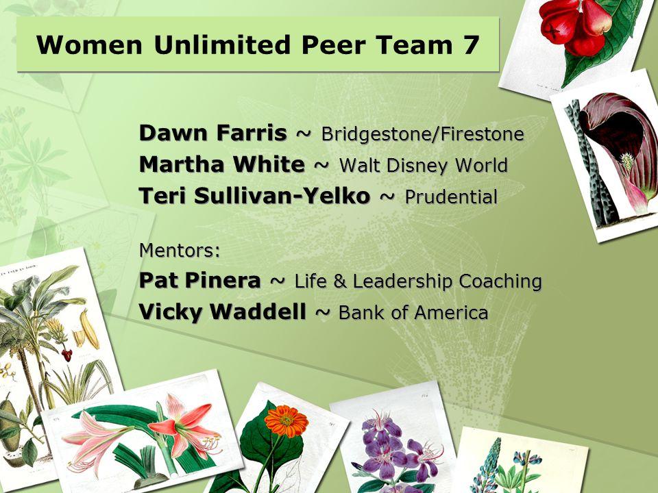 Women Unlimited Peer Team 7