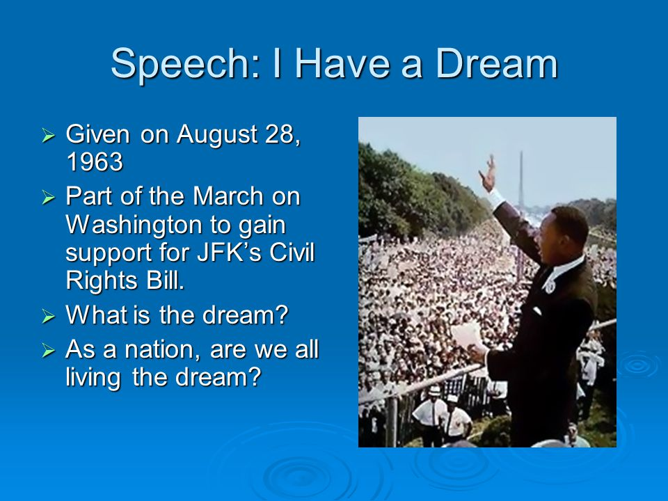 Speech: I Have a Dream Given on August 28, 1963