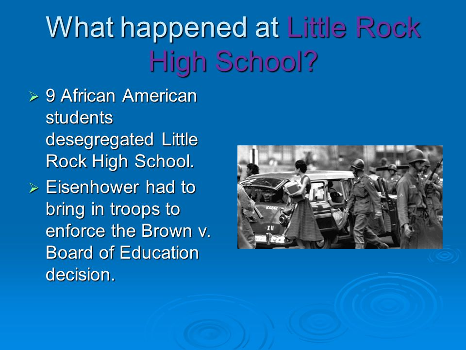 What happened at Little Rock High School