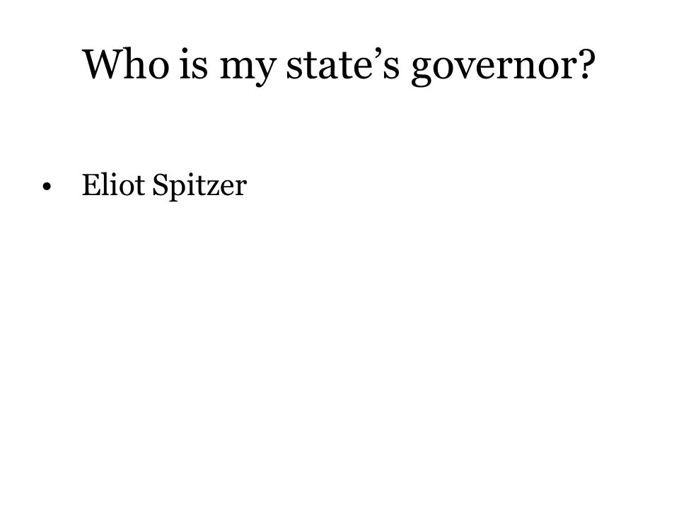 Who is my state's governor
