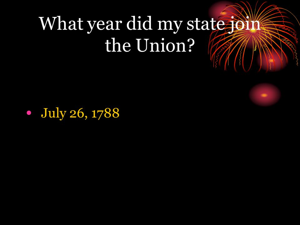 What year did my state join the Union
