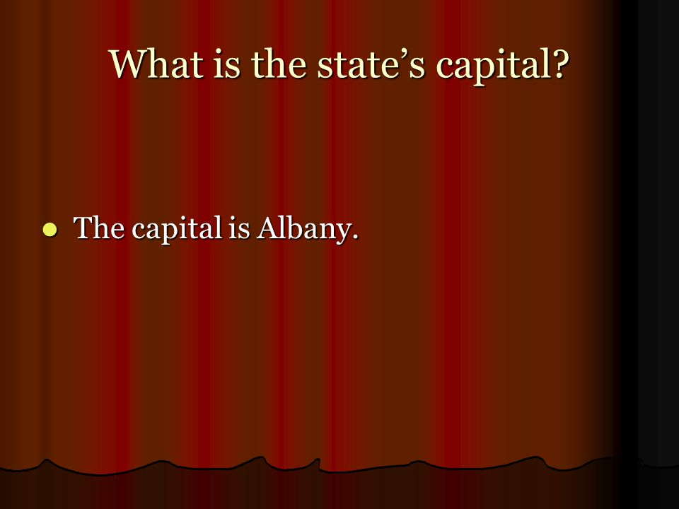 What is the state's capital