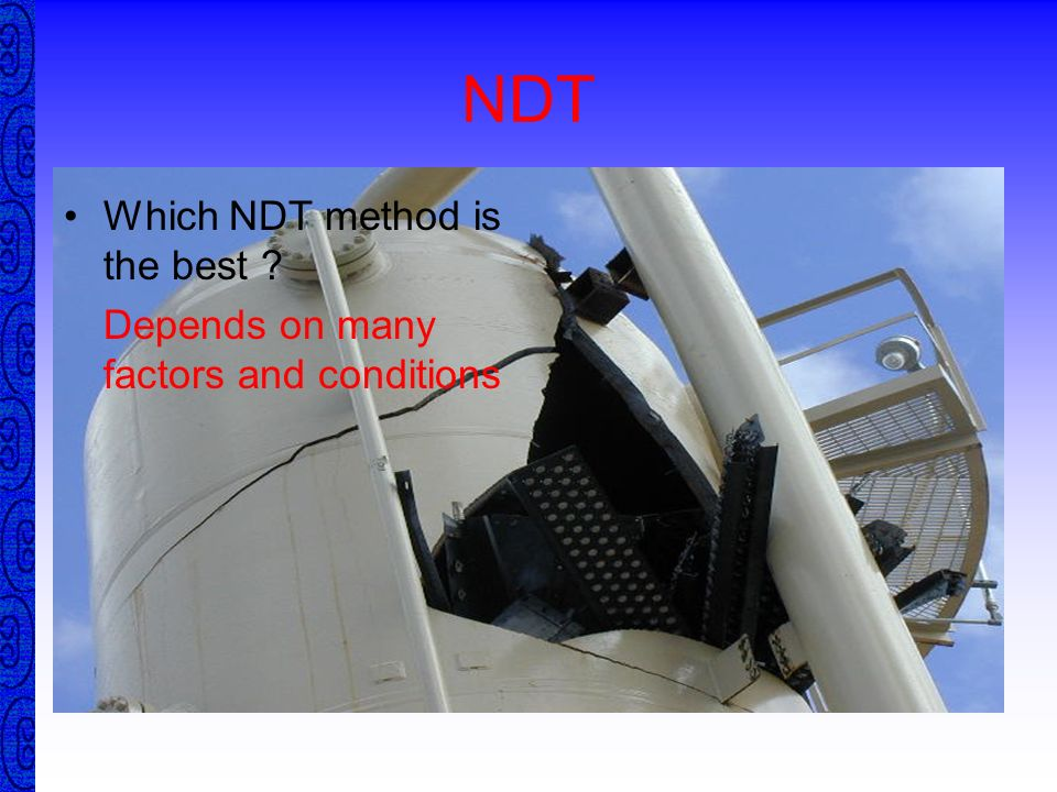 NDT Which NDT method is the best