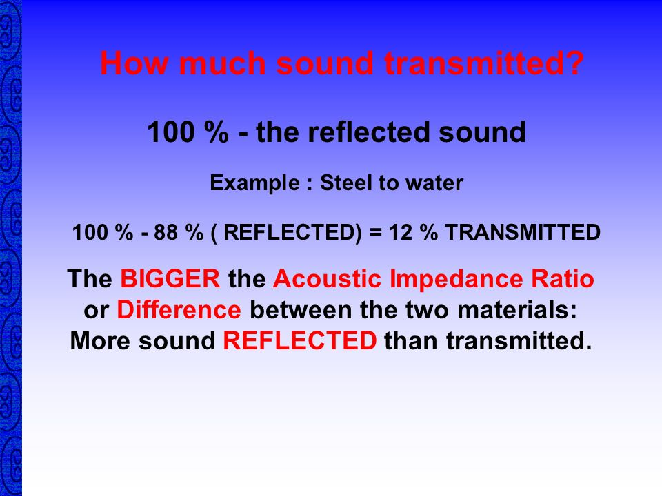 How much sound transmitted