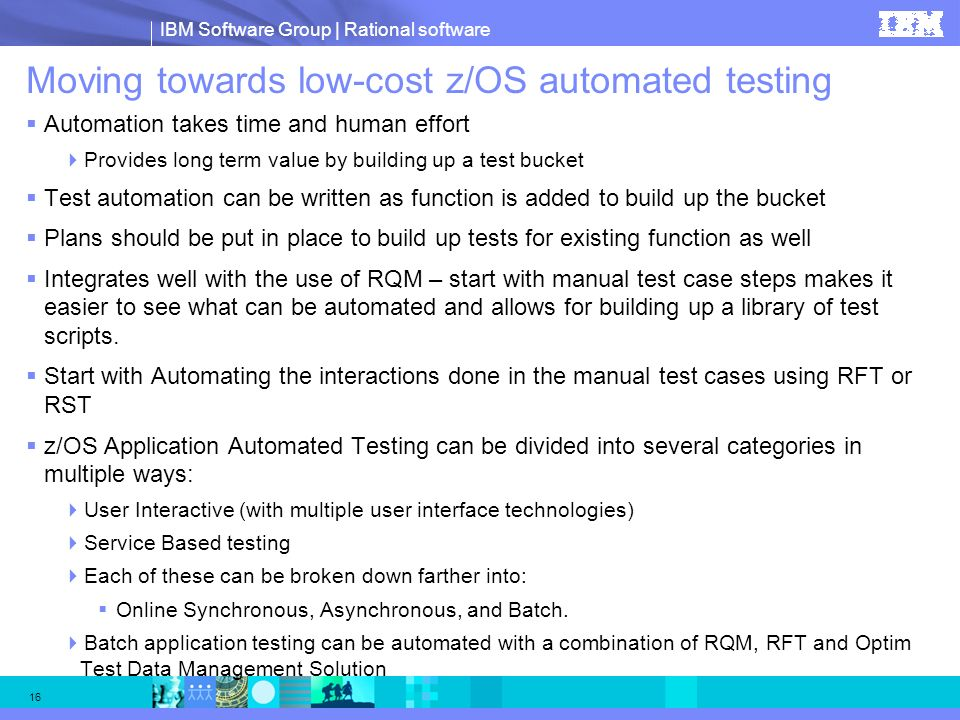 Moving towards low-cost z/OS automated testing