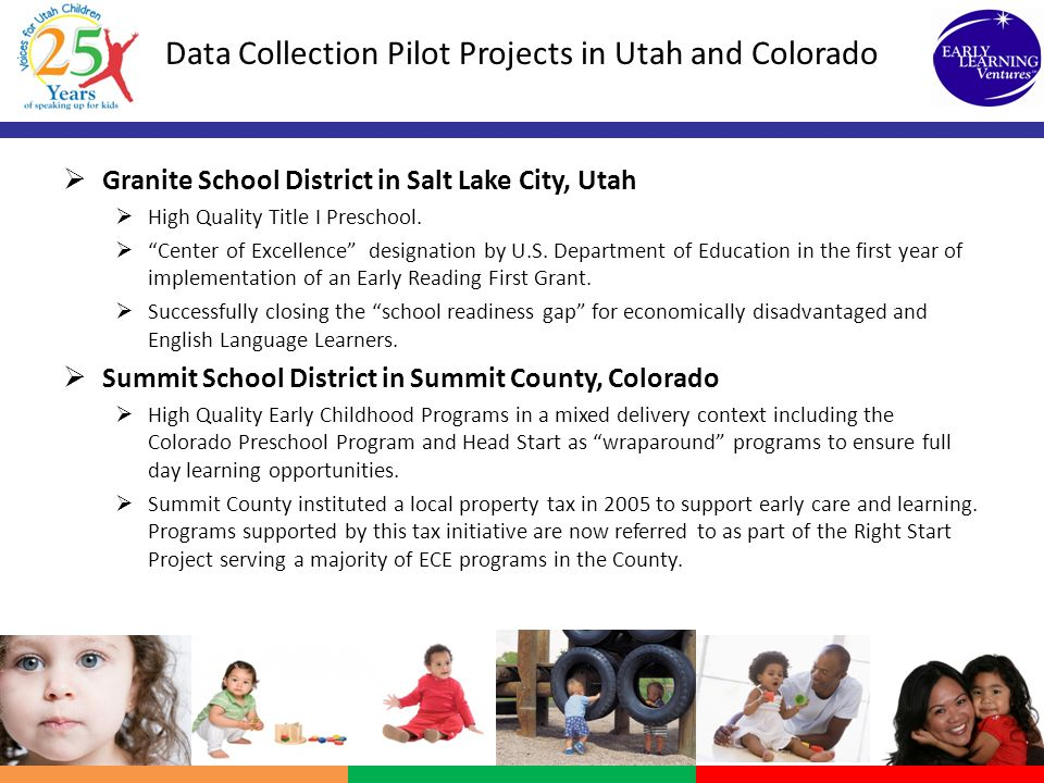 Data Collection Pilot Projects in Utah and Colorado
