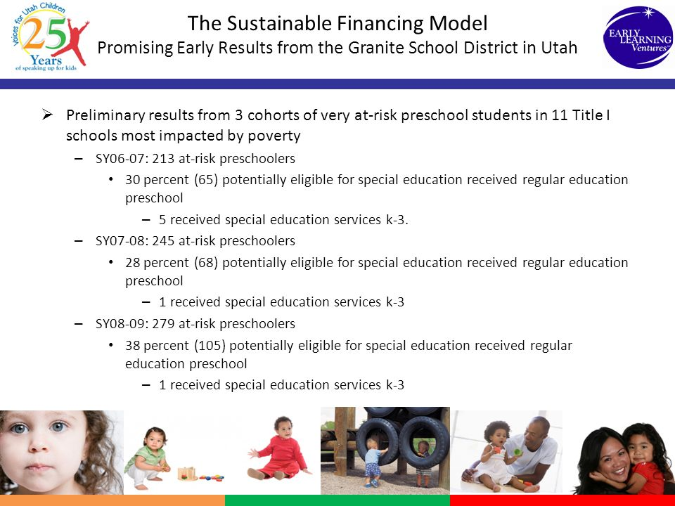 The Sustainable Financing Model Promising Early Results from the Granite School District in Utah