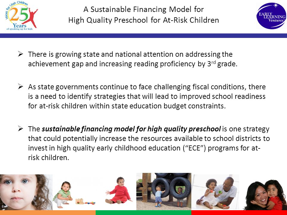 A Sustainable Financing Model for High Quality Preschool for At-Risk Children