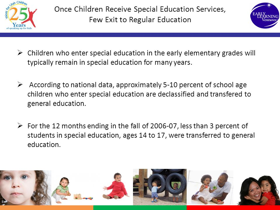 Once Children Receive Special Education Services, Few Exit to Regular Education