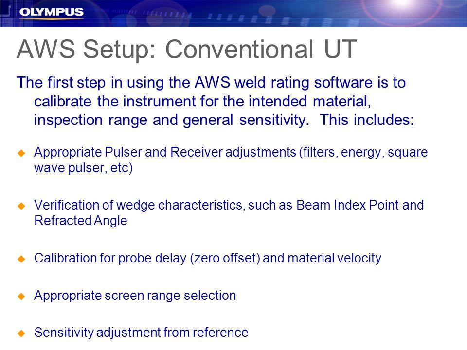 AWS Setup: Conventional UT