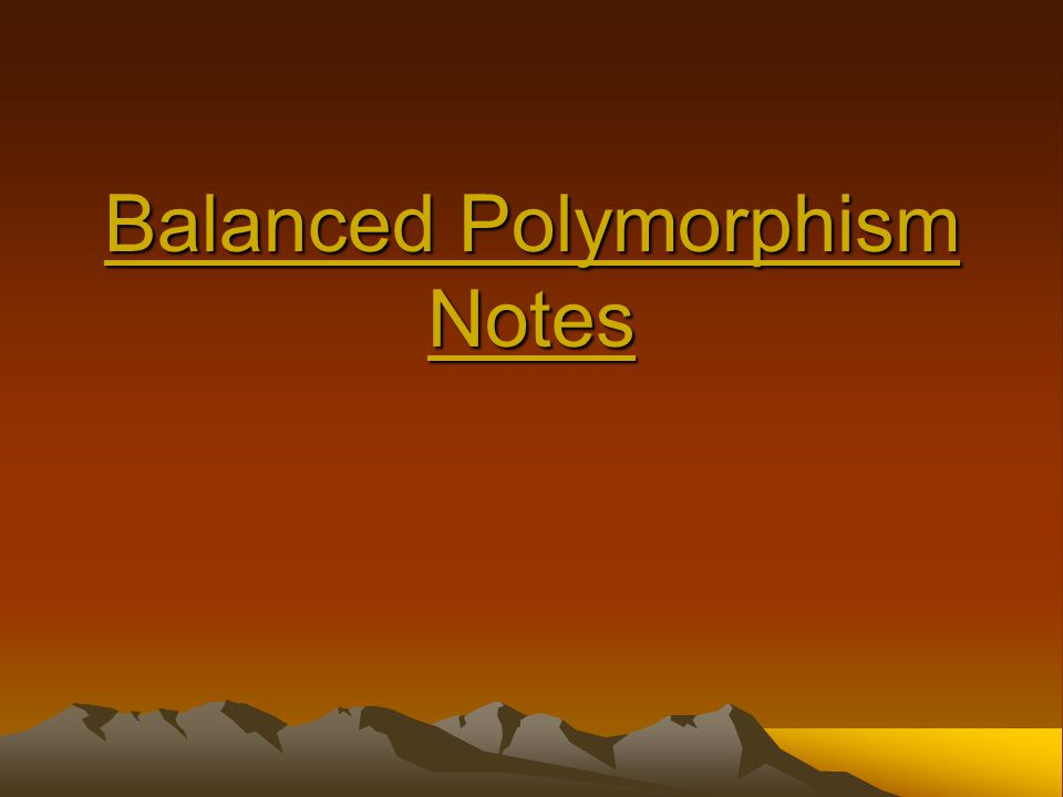 Balanced Polymorphism Notes