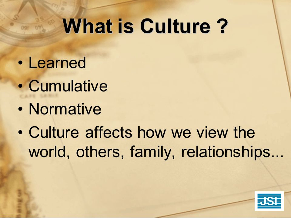 What is Culture Learned Cumulative Normative