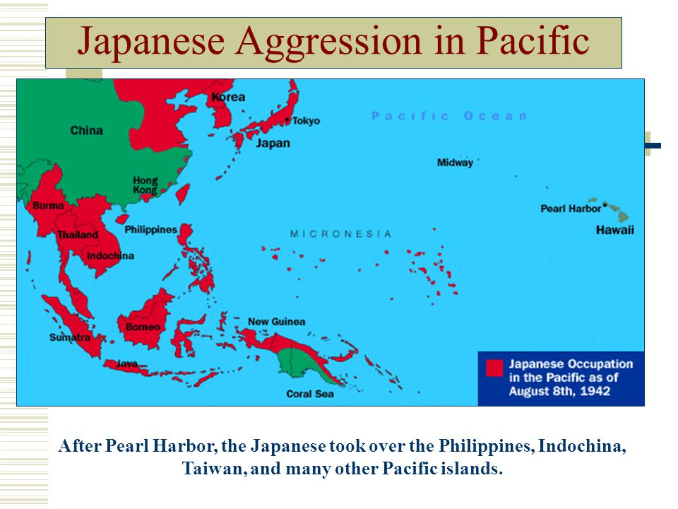 Map Of Japan And Pacific Islands