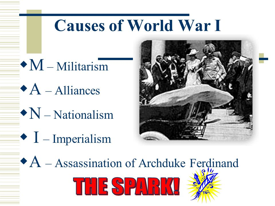 A – Assassination of Archduke Ferdinand