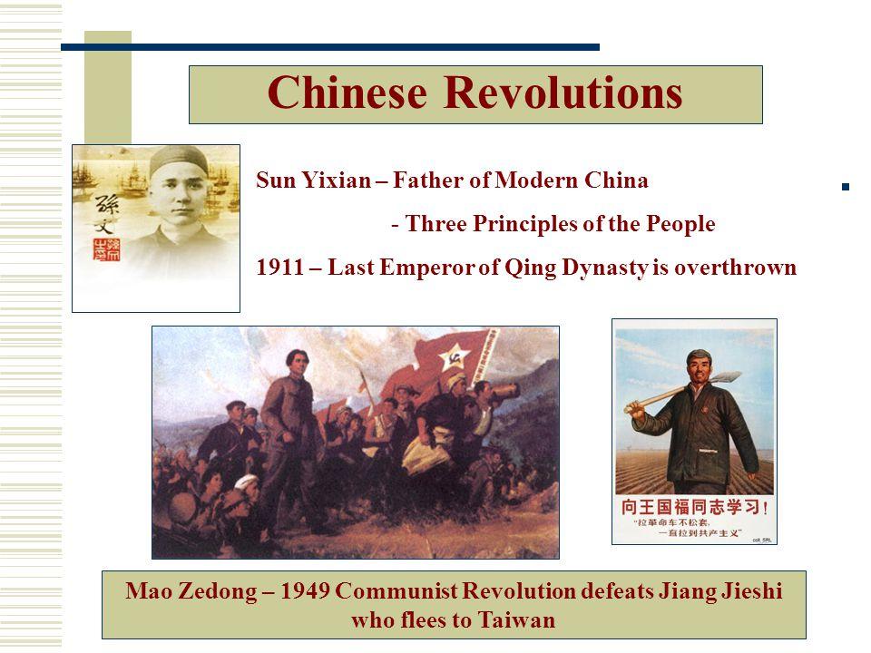 Chinese Revolutions Sun Yixian – Father of Modern China