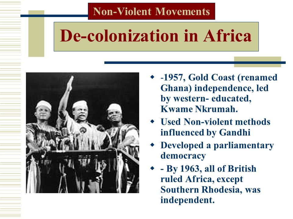De-colonization in Africa