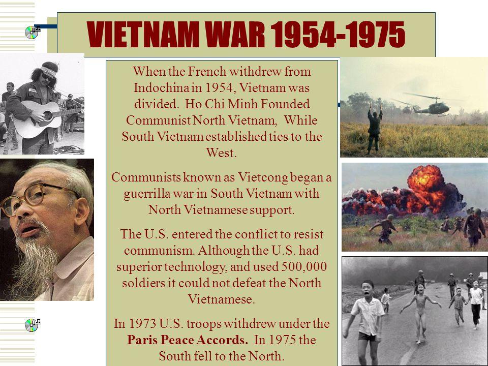 VIETNAM WAR 1954-1975
