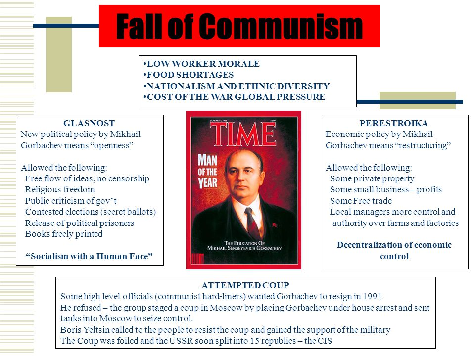 Socialism with a Human Face Decentralization of economic control