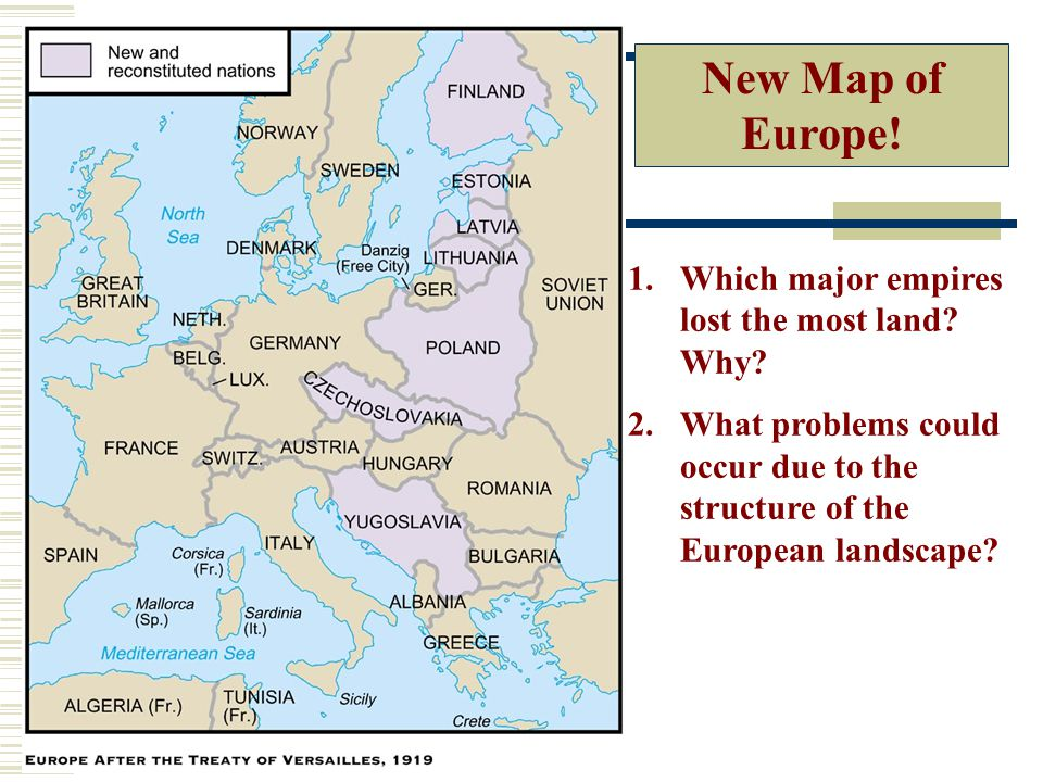New Map of Europe! Which major empires lost the most land Why