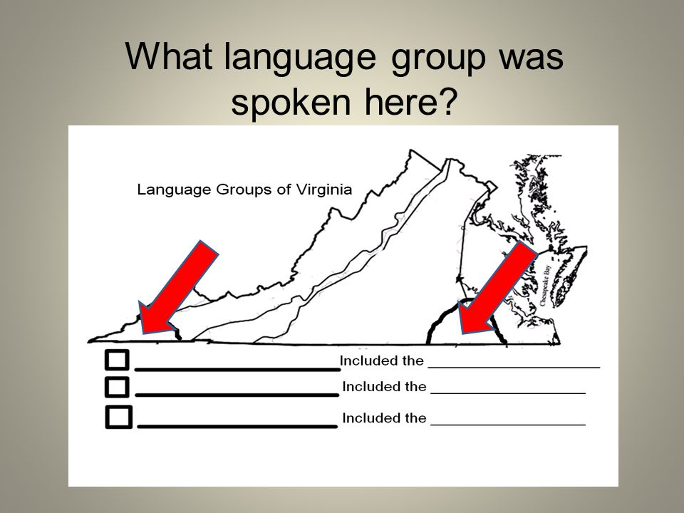 What language group was spoken here