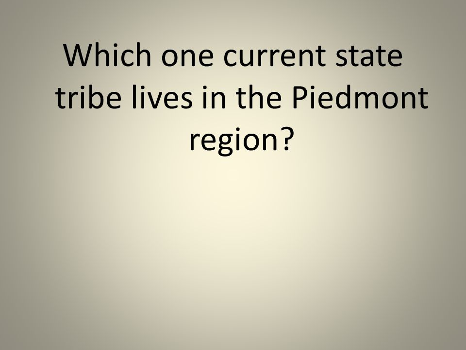 Which one current state tribe lives in the Piedmont region