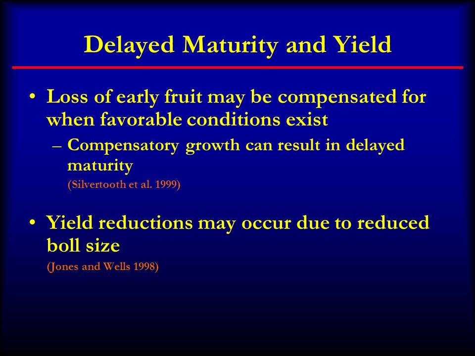 Delayed Maturity and Yield