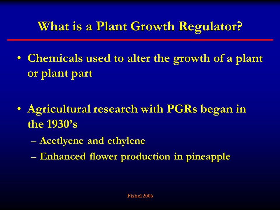 What is a Plant Growth Regulator