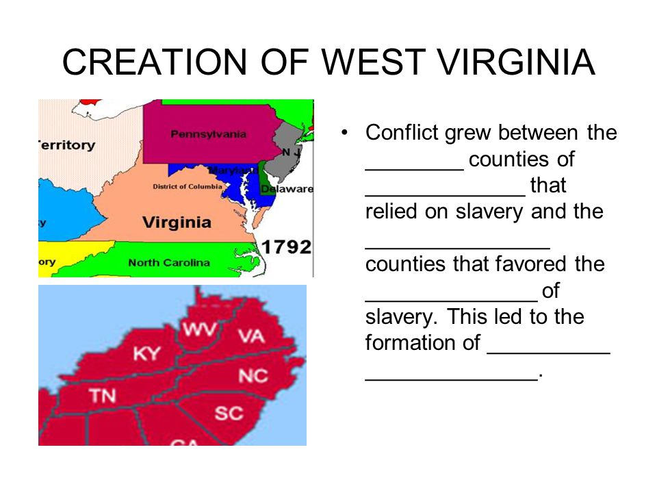 CREATION OF WEST VIRGINIA