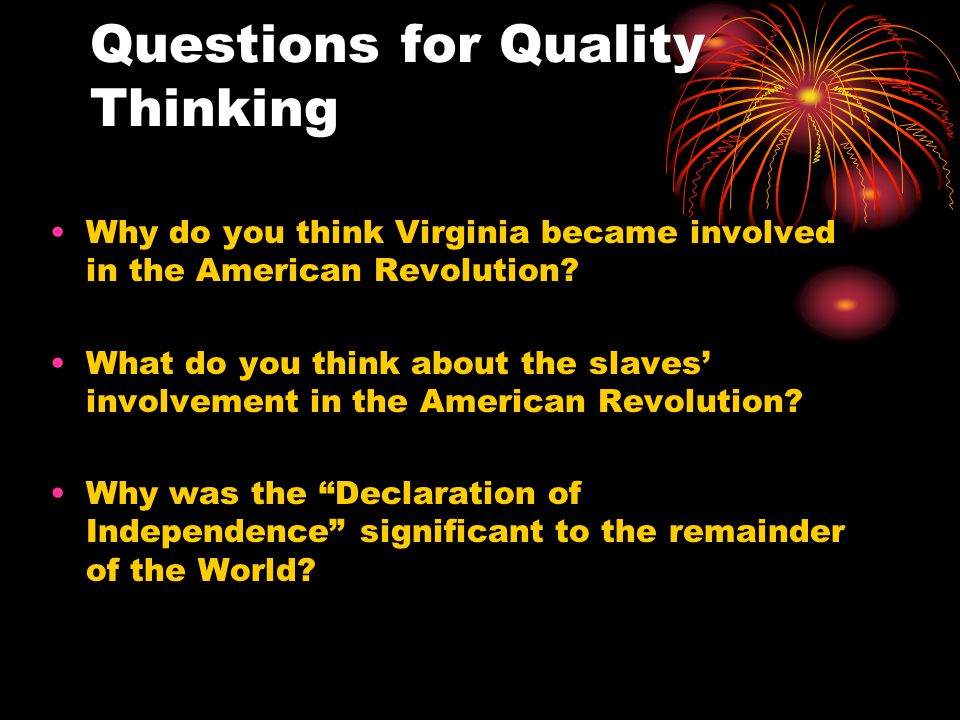 Questions for Quality Thinking