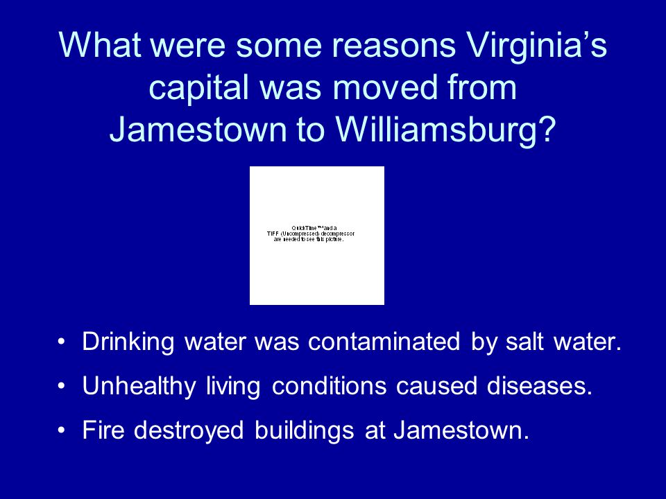 What were some reasons Virginia's capital was moved from Jamestown to Williamsburg