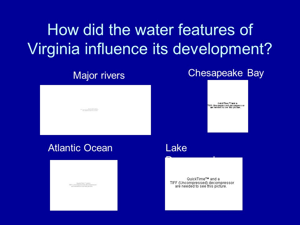 How did the water features of Virginia influence its development